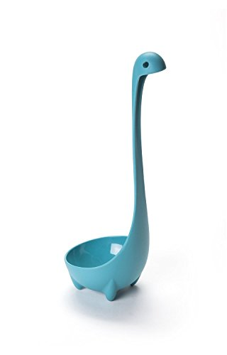 Friendly Chef Premium Nessie Soup Ladle, Blue, Food-Safe 100% Dishwasher Safe Kitchen Utensil Cookware Loch Ness Monster