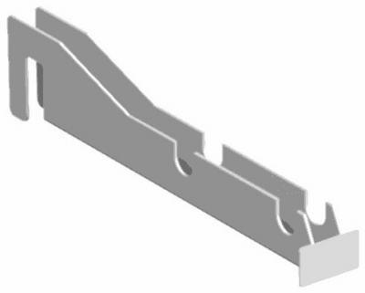 Lozier Store Fixtures CDA8111SPA WHT Rolled Goods Support Arm - Pack Of 10 (Fixtures Lozier Store)