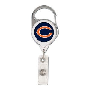 WinCraft NFL Chicago Bears Retractable Premium Badge Holder, Team Color, One Size - Chicago Bears Retractable Badge Holder