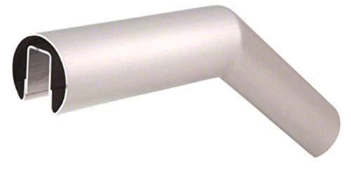 """CRL GR20U32BS Brushed Stainless 32 Degree Upper Incline Corner for 2"""" Diameter Railing"""