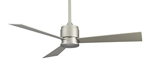 Fanimation Zonix - 54 inch - Satin Nickel with Satin Nickel Blades and Wall Control - FP4630SN