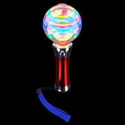 Light-Up <Br>Spinning Ball <Br>Wand 8 Inch
