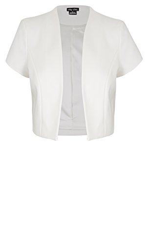 Designer Plus Size BOLERO AFTER 5 COL C - Ivory - 22 / XL | City Chic