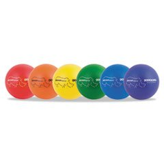 * Rhino Skin Dodge Ball Set, 8'' Diameter, Assorted, 6 Balls/Set by MOT