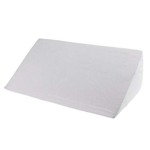 ❀ liyeziaaa ❀ Acid Reflux Foam Bed Wedge Pillow Leg Elevation Back Lumbar Support Cushions (White)