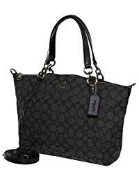 Coach F27582 Outline Signature Small Kelsey Crossbody Satchel Bag Black Smoke / Black (Coach Small Handbags Crossbody)