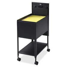 Mobile Standard File, w/Lock, 13-1/2''''x24-3/4''''x28-1/4'''', Black, Sold as 1 Each by Lorell