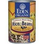 Eden Foods Caribbean Rice & Black Beans 48x 15 Oz by EDEN FOODS