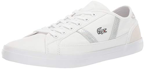 Lacoste Women's SIDELINE Sneaker, White, 8.5 Medium US ()