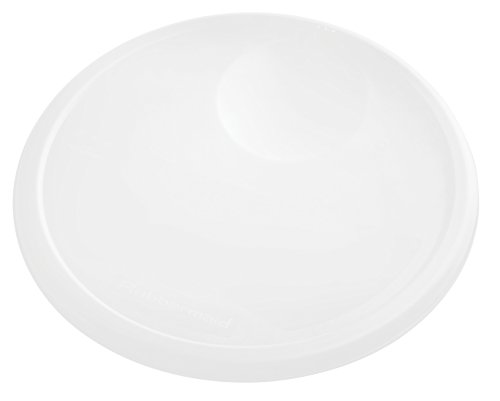 Rubbermaid Commercial Products 1980386 Rubbermaid Commercial Plastic Food Storage Container Lid, Round, White, 12 Quart