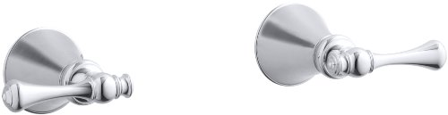 KOHLER K-16217-4A-CP Revival Two-Handle Wall-Mount Bath Valve Trim, Polished Chrome Chrome Revival 2 Handle
