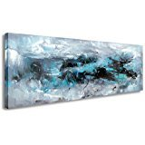 SkywardArt Wall Art , Canvas PrintBlue Abstract Paintings Modern Artwork for Wall and Home Decor