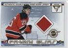 Patrik Elias; Scott Gomez (Hockey Business card) 2001-02 Pacific Private Stock Titanium - Authentic Double-Sided Game-Worn Jersey #69