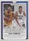 #5: Ben Simmons (Basketball Card) 2017-18 Panini Contenders Draft Picks - Legacy #23