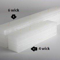 Vance Kitira Layered Brick Candle - 6 Wick (White)