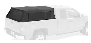 [Bestop 76303-35 Black Diamond Supertop for Truck Bed Cover (6.5' Bed) 1999-2016 Chevy/GMC Silverado 1500/Sierra 1500] (2007 Canopy Bed)