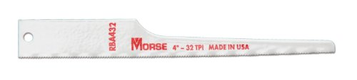 MK Morse RBA432T05 32TPI Air Saw Reciprocating Blade, 4-Inch, (Panel Saw Accessories)