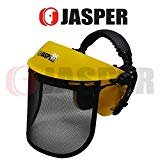 Jasper Browguard Face Shield Mesh Visor with Ear Muffs - ANSI Z87.1 CE EN1731 by Jasper (Image #7)