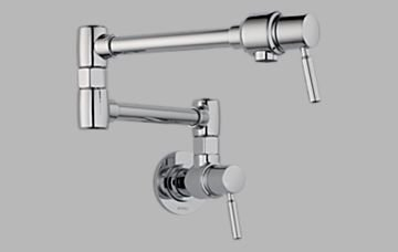 opean Pot Filler Double Handle Wall Mount, Chrome (Pot Fillers Double Handle)