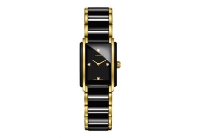 (Rado Integral Jubile Two-tone Black Ceramic and Gold Womens Watch -)