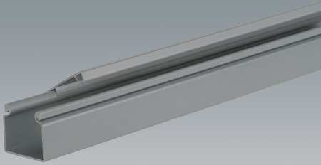 Wire Duct Hinging Cover Gray L 6 Ft