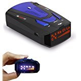 Radar Detector, Petcaree High Performance V7 Police Radar Laser Detectors for Cars with Voice Alert and Car Speed Alarm System with 360 Degree Detection (Blue)
