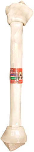 Pet Factory American Beefhide 29922 Rawhide Knotted Bone 21-23 inches. Great Natural Flavor. American Beefhide is a Great Natural Source for Protein and Assists in Dental Health