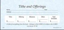 Offering Env-Tithes & Offering Stock Sets (Package of 52) (Offering Envelopes For Church)