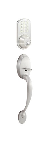 Morning Industry BHF-01SN Handle Set Combo with Touchpad Deadbolt, Sat, Nickel