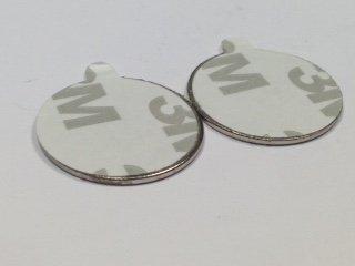 Supa-Mag magneti al neodimio grado N35, di 20mm di diametro x 1mm di spessore, con autoadesivo 3M 9080sul retro, pacco di 4 paia (8 magneti), colore: Nickel lucido (argento), sollevano 1067kg a magnete Anchor Magnets Ltd