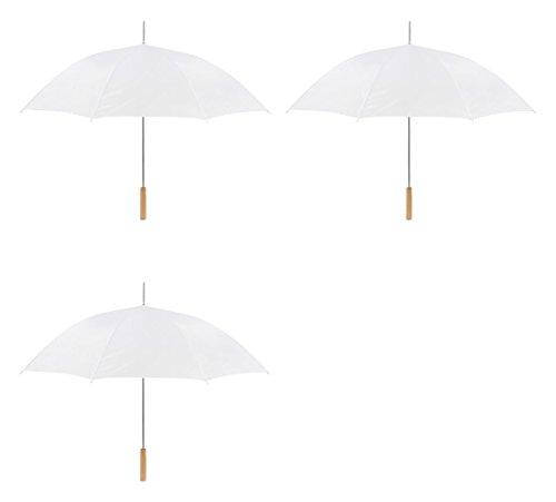Wedding Umbrella - 48'' Umbrella - Manual Open - 3 Pack By Anderson Umbrella (White) by Anderson Umbrella