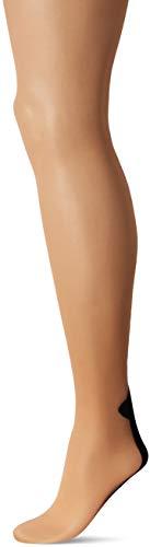 Cuban Foot Pantyhose - by Leg Avenue (Nude w/Black Backseam. One Size (90-160 lbs))