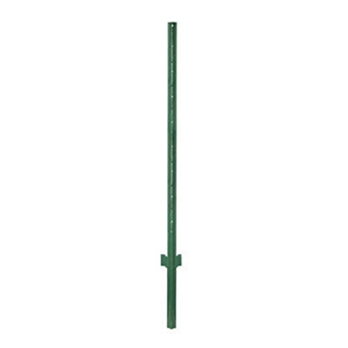 Set of 10 U-Shape Light-duty Steel Fence Post - 4' - Green Anchoring Fence Posts