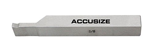 AccusizeTools - 8 pcs H.S.S. Tool Bit Set, Pre-Ground for Turning & Facing Work, for Aluminum.Steel, Brass, Plastic & Wood (3/8 inch) by Accusize Industrial Tools (Image #4)