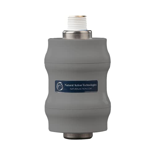 Natural Action Technologies Shower Structured Water Unit. Produces energized, structured water. Results in improved hydration. Increases the amount of fourth phase water also known as EZ water & H3O2.