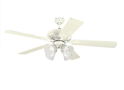 Westinghouse Lighting 78077 Swirl Four-Light 52-Inch Five Blade Ceiling Fan, Brushed Pewter with Frosted Swirl - Brushed 52 Fan Pewter Ceiling