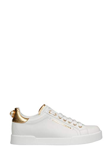 Dolce e Gabbana Women's Ck1602an2988b996 White Leather Sneakers