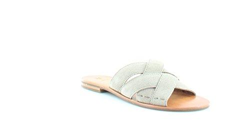 FRYE Womens Carla Criss Cross Open Toe Casual Slide Sandals, Ash, Size 5.5