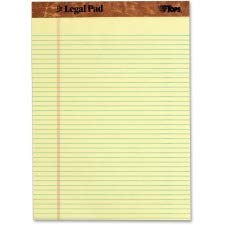 Tops Perforated Pads, Narrow Rule, Ltr, 50Shts, Canary