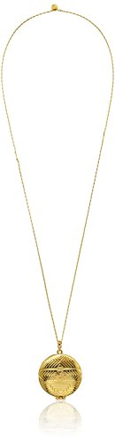 House of Harlow 1960 14k Yellow Gold-Plated Medallion Locket Necklace, (Medallion Locket)
