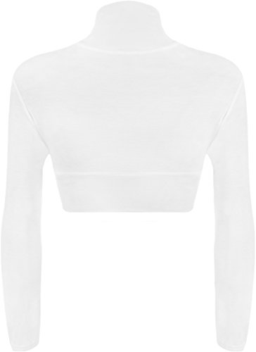 WearAll Shrug Bolero Womens Sleeve Top White Cardigan Long rqPZrt1f