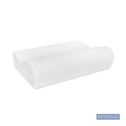 Soft-Tex Restonic Memory Foam Pillow, Standard, White ()
