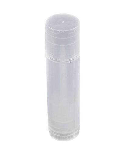 ReNext 50 Pcs Transparent Clear Empty Lip Balm Tubes Containers