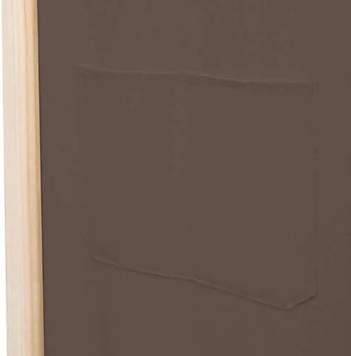 3-Panel Folding Privacy Screen Brown Room Divider Screen Household Wood Frame Room Divider Screen 120 x 170 x 4 cm Zerone Decorative Panel Room Divider