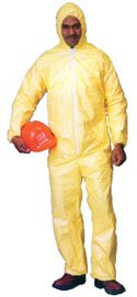 Tyvek QC Coveralls, Sewn and Bound Seams with Hood, Elastic Wrists and Ankles (12 per case) - Size X-Large