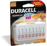 Duracell Easy Tab Hearing Aid Batteries Size 312 (16 batteries) (Best Rated Hearing Aid Batteries)