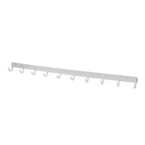 eDealMax aleación hogar de montaje en pared 10 Escudo Toalla Ganchos Hat Rack Percha 75 cm de largo tono de plata - - Amazon.com