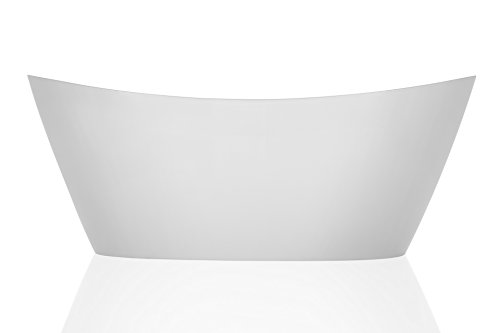 Empava 67'' Luxury Freestanding Acrylic Soaking SPA Tub Modern Stand Alone Bathtubs with Custom Contemporary Design EMPV-FT1518 by Empava (Image #5)