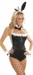 Sexy Ladies Blanco y Negro Bunny Playboy Teddy Disfraz de ...