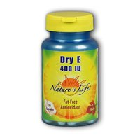 Dry Vitamin E, 400 IU, 50 caps by Nature's Life (Pack of 3)